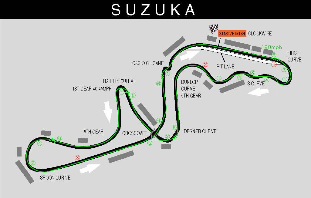F1 Circuit Map - Japanese Grand Prix - 13 Oct 2019