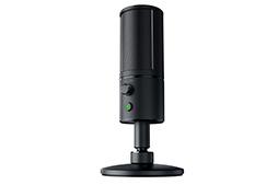画像 (003) Razer , 背面 に 8 × 8 ド ッ ト の LED デ ィ ス プ レ イ を 備 え た 「魅 せ る」 マ イ ク 「ire Siren Emote」 を 発 表