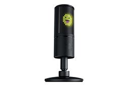 画像 (004) Razer , 背面 に 8 × 8 ド ッ ト の LED デ ィ ス プ レ イ を 備 え た 「魅 せ る」 マ イ ク 「ire Siren Emote」 を 発 表