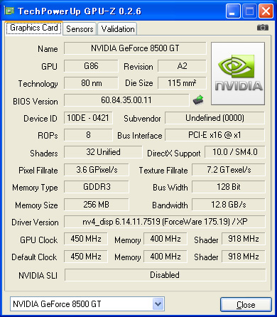 Sparkle Geforce 8800Gt 512Mb