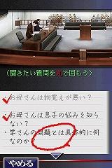 裁判員制度施行日である5月21日に発売。NDS用裁判員推理ゲーム「有罪×無罪」