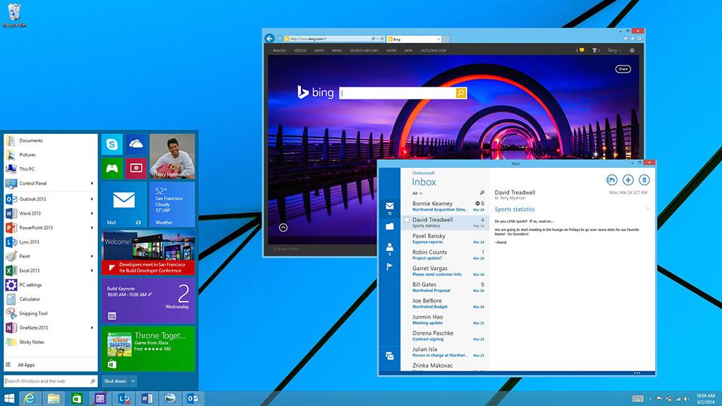 【画像】Windows 9のデスクトップを御覧ください