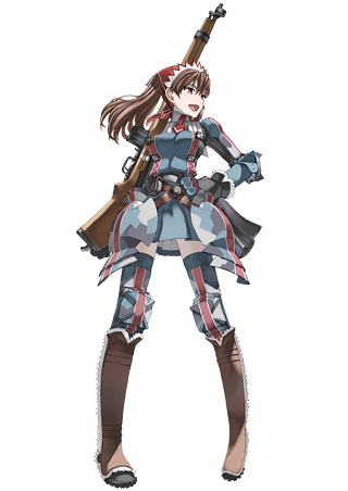 緋き戦乙女 アリシア・メルキオット アリシアは,銃とグレネード弾を武器... 「カオス ヒーロー