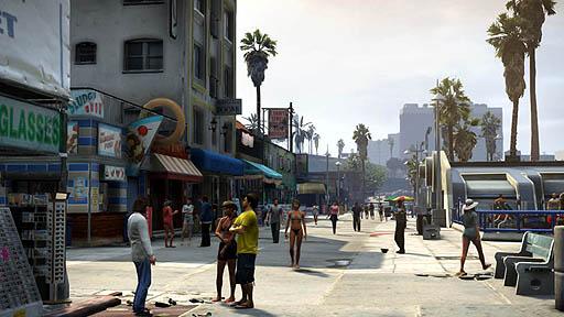 ロスサントスの街並み(GTA5)