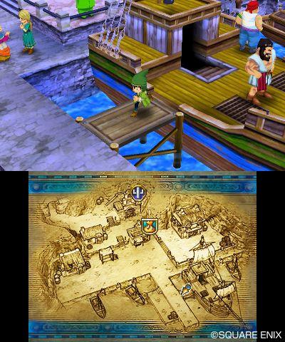 002 De första skärmbilderna från Dragon Quest VII till 3DS