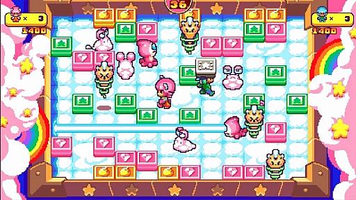 画像(003)PS4&Switch版「プッシー&プリー・イン・ブロックランド」が2020年7月2日にリリース。レトロな雰囲気を持つ協力型パズルゲーム