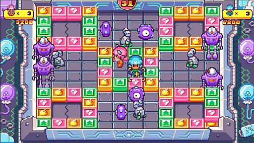 画像(005)PS4&Switch版「プッシー&プリー・イン・ブロックランド」が2020年7月2日にリリース。レトロな雰囲気を持つ協力型パズルゲーム