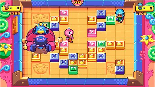 画像(006)PS4&Switch版「プッシー&プリー・イン・ブロックランド」が2020年7月2日にリリース。レトロな雰囲気を持つ協力型パズルゲーム