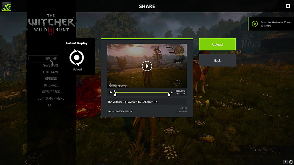 how to take screenshots with geforce experience