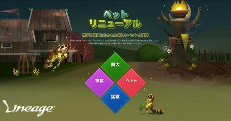 画像(002)「リネージュ」,アップデート「WILD REVIVAL」を5月22日に実施。ペットシステムがリニューアルされ,好みのペットと狩りが楽しめるように
