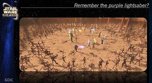 画像集#008のサムネイル/[GDC 2021]クラシックゲーム・ポストモーテムに「スター・ウォーズ ギャラクシーズ」が登場。ゲーマーの期待を裏切り続けたMMORPGは,どのようにして生まれたのか