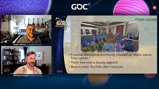 画像集#013のサムネイル/[GDC 2021]クラシックゲーム・ポストモーテムに「スター・ウォーズ ギャラクシーズ」が登場。ゲーマーの期待を裏切り続けたMMORPGは,どのようにして生まれたのか