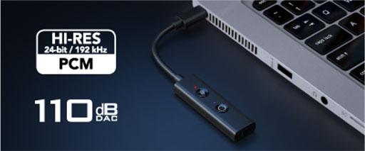 画像集#007のサムネイル/Creative,PCやPS5,Switchなどで利用可能なハイレゾ対応USBサウンドデバイスを発売