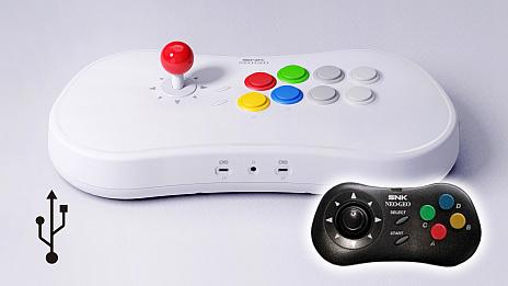 画像(001)SNK,20タイトルのゲームを内蔵したアーケードスティック「NEOGEO Arcade Stick Pro」を2019年秋に発売。現在,予約受付中