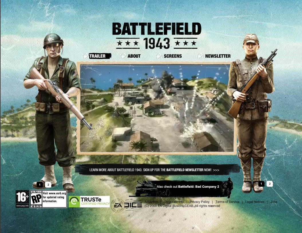 ea バトルフィールドシリーズ最新作 bf 1943 と bf bad company 2