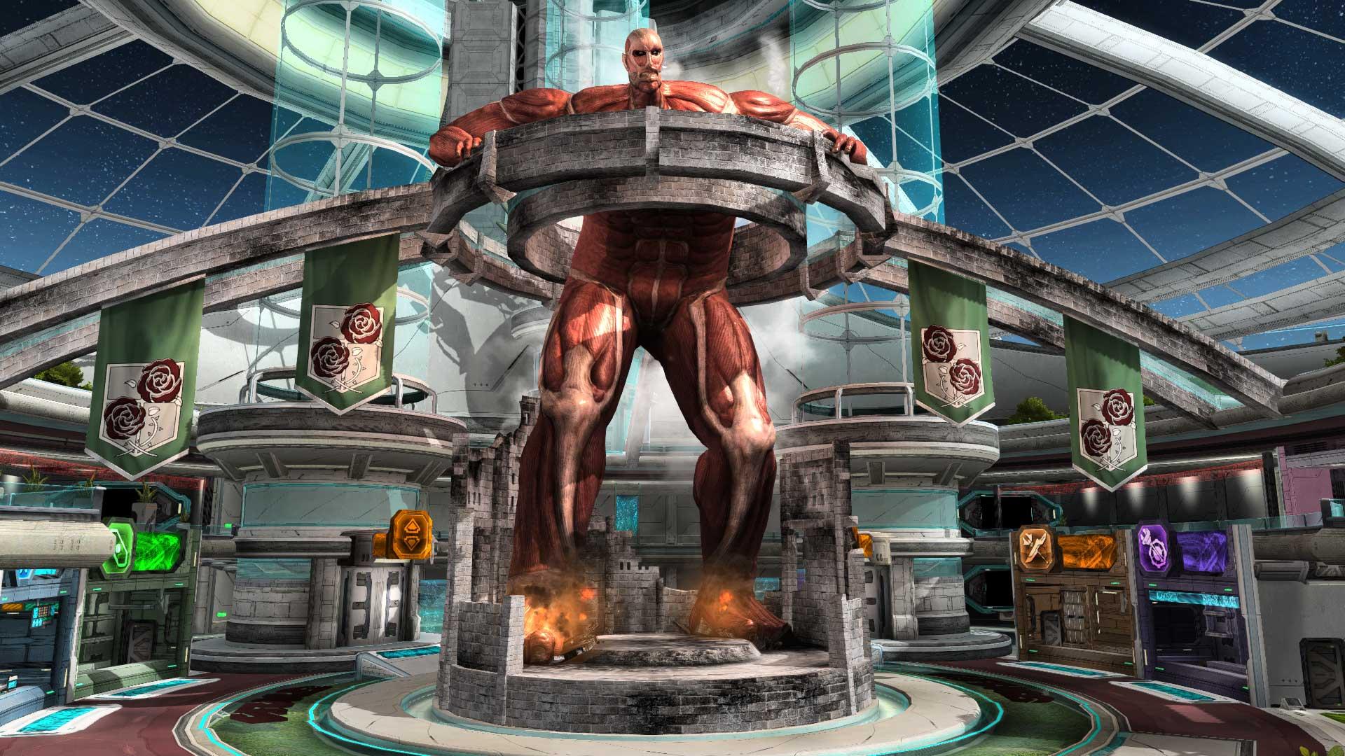 画像集 007 ファンタシースターオンライン2 人気コミック 進撃の巨人 とのコラボレーションが3月26日に実施 超大型巨人がロビーに出現 4gamer Net