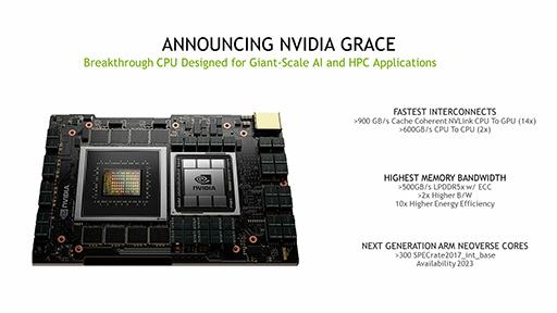 画像集#003のサムネイル/NVIDIA,次世代のスーパーコンピュータ向けボード「Grace」を発表。次世代のGPUとArmアーキCPUを搭載する