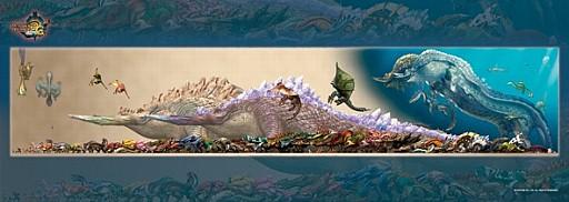 「モンスターハンター」シリーズのキャラクター達がジグゾーパズルで登場