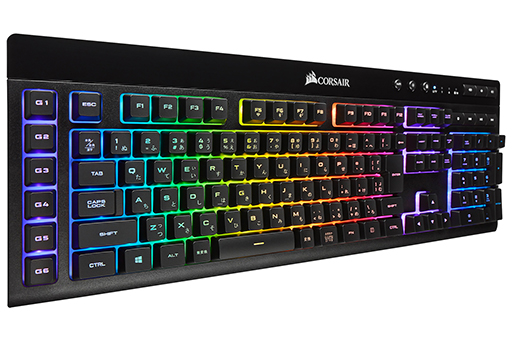 Corsairのワイヤレス&ワイヤード対応キーボード「K57 RGB」が国内発売。独自の低遅延ワイヤレスとBluetooth 4.2に対応