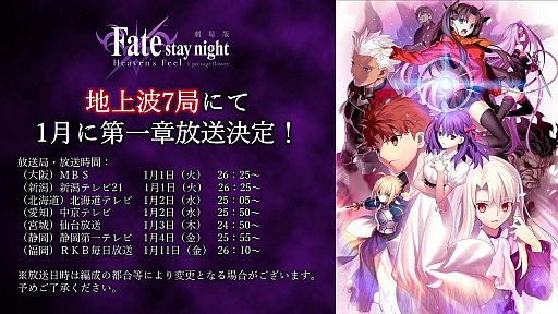 画像(005)劇場版「Fate/stay night [Heaven's Feel]」II.lost butterfly,予告映像が解禁