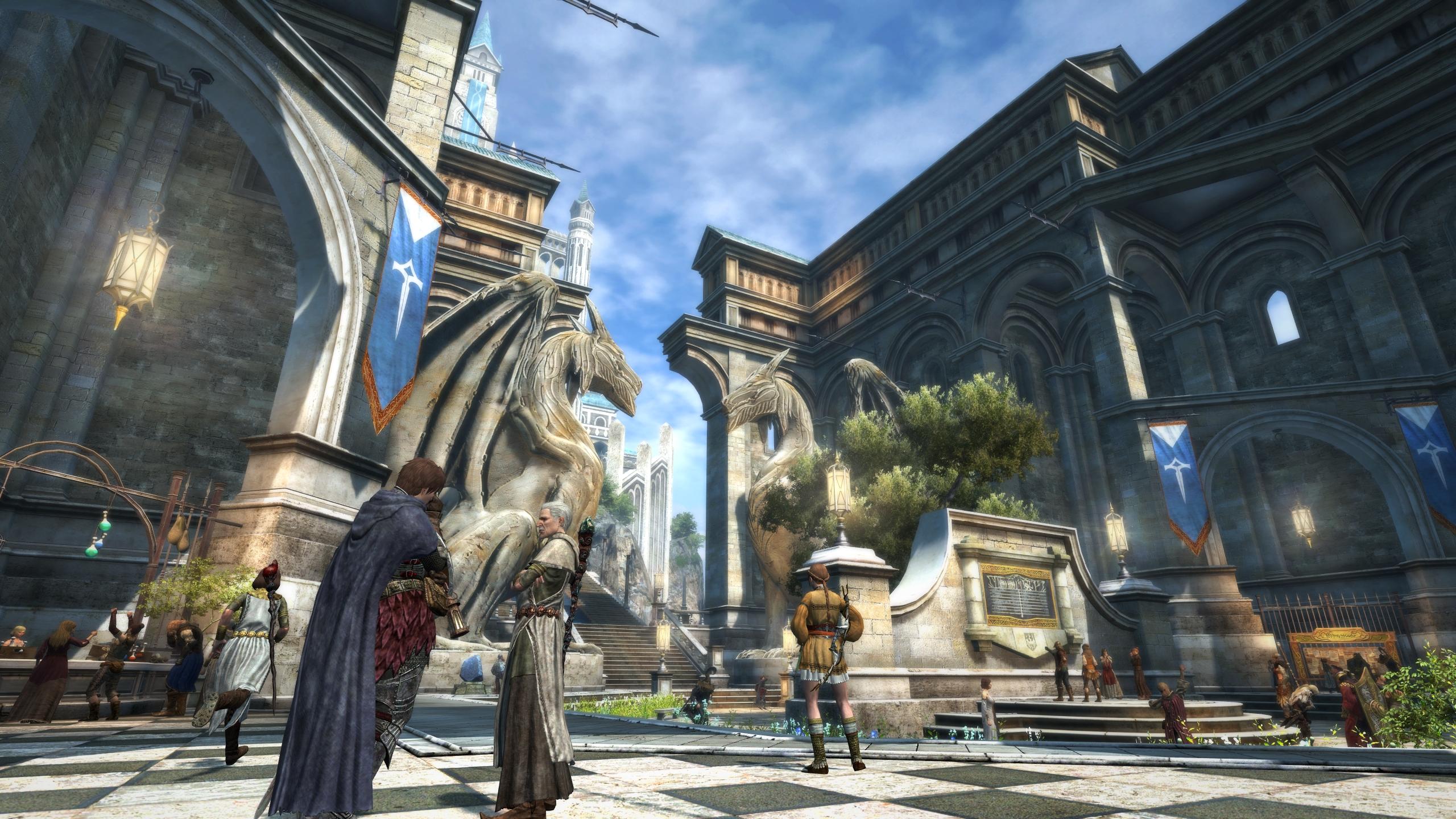 画像集 009 Dragon S Dogma Online 最大100人のプレイヤーで賑わうロビーの詳細が明らかに 4gamer Net