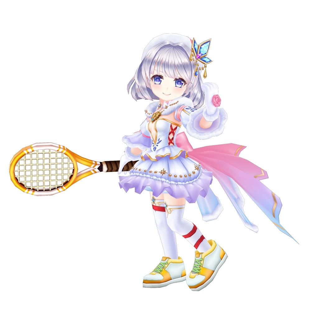 猫 キアラ 白 テニス