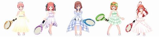 画像集#002のサムネイル/「白猫テニス」とアニメ「五等分の花嫁」コラボイベント第2弾が開催決定。Blu-ray全巻セットなどが当たるTwitterキャンペーンも