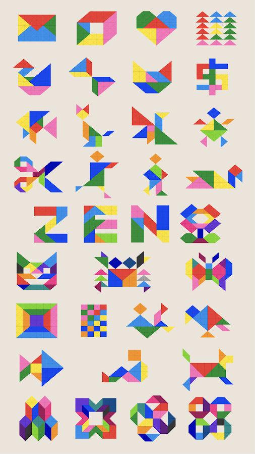 画像集004zen Block タングラムブロックパズルandroid