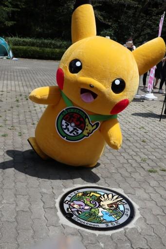 """画像(007)東京・町田市で行われた「ポケモンマンホール""""ポケふた""""」お披露目式をレポート。ポケモンが描かれたマンホールの蓋6枚が芹ヶ谷公園に設置"""