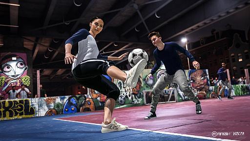 画像(001)「FIFA 20」,ストリートサッカーにフィーチャーした新モードVOLTAをプレイ。新システムや進化した物理演算でよりリアルに
