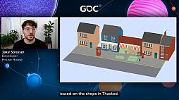 画像集#015のサムネイル/[GDC 2021]Google マップから作られた「Untitled Goose Game」のマップは,何を目指したのか