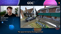 画像集#023のサムネイル/[GDC 2021]Google マップから作られた「Untitled Goose Game」のマップは,何を目指したのか