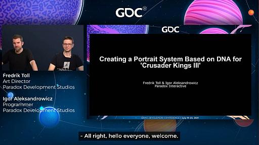 """画像集#004のサムネイル/[GDC 2021]「Crusader Kings III」の""""遺伝""""システムとキャラクターグラフィックスの自動生成について,技術とアートの両面から解説"""