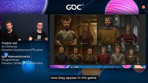 """画像集#013のサムネイル/[GDC 2021]「Crusader Kings III」の""""遺伝""""システムとキャラクターグラフィックスの自動生成について,技術とアートの両面から解説"""