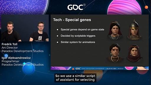 """画像集#015のサムネイル/[GDC 2021]「Crusader Kings III」の""""遺伝""""システムとキャラクターグラフィックスの自動生成について,技術とアートの両面から解説"""