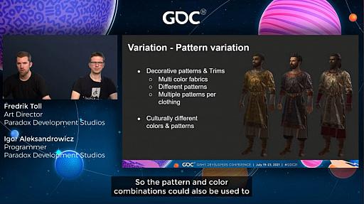 """画像集#018のサムネイル/[GDC 2021]「Crusader Kings III」の""""遺伝""""システムとキャラクターグラフィックスの自動生成について,技術とアートの両面から解説"""