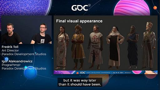 """画像集#024のサムネイル/[GDC 2021]「Crusader Kings III」の""""遺伝""""システムとキャラクターグラフィックスの自動生成について,技術とアートの両面から解説"""
