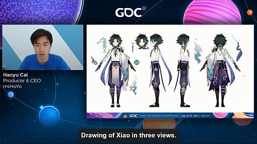 画像集#008のサムネイル/[GDC 2021]「原神」の魅力的なキャラクターと背景グラフィックスはどのように生まれたのか。miHoYoのCEO自ら解説