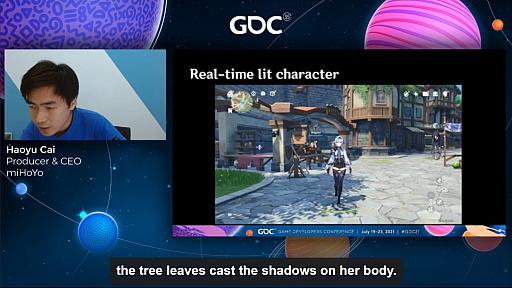画像集#017のサムネイル/[GDC 2021]「原神」の魅力的なキャラクターと背景グラフィックスはどのように生まれたのか。miHoYoのCEO自ら解説