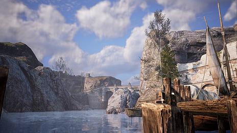 """画像集#008のサムネイル/MMORPG「BLESS UNLEASHED」のエリアガイドが公開。今回は,谷間に流れる大河により港や街が発展した""""カンパーニャ""""地域"""