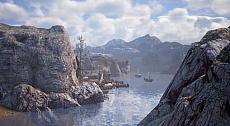 """画像集#014のサムネイル/MMORPG「BLESS UNLEASHED」のエリアガイドが公開。今回は,谷間に流れる大河により港や街が発展した""""カンパーニャ""""地域"""