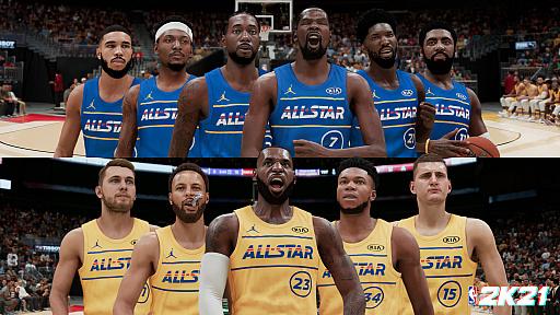"""NBA 2K21」,最新の選手レーティングが発表。""""NBA オールスター 2021 ..."""