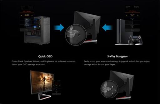 画像(012)BenQ,ゲーマー向けディスプレイの新ブランド「MOBIUZ」第1弾製品を国内発売。27型および24.5型フルHDモデルを用意