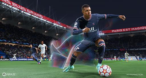 画像集#003のサムネイル/「FIFA 22」バーチャルプレビューイベントの模様をお届け。新世代ハードで実現したテクノロジー「HyperMotion」により,選手の動きがよりリアルに