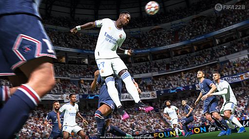 画像集#004のサムネイル/「FIFA 22」バーチャルプレビューイベントの模様をお届け。新世代ハードで実現したテクノロジー「HyperMotion」により,選手の動きがよりリアルに