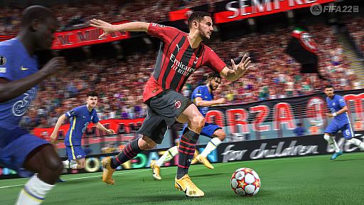 画像集#006のサムネイル/「FIFA 22」バーチャルプレビューイベントの模様をお届け。新世代ハードで実現したテクノロジー「HyperMotion」により,選手の動きがよりリアルに