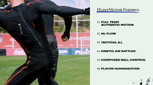 """画像集#004のサムネイル/「FIFA 22」のゲームプレイトレイラーが公開。""""HyperMotion""""を中心に,ゲームをより本物に近づけるためのテクノロジーを紹介"""