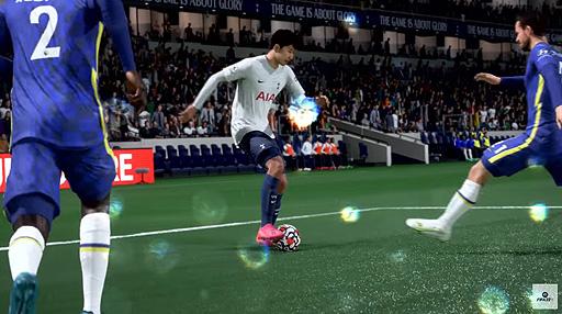 """画像集#006のサムネイル/「FIFA 22」のゲームプレイトレイラーが公開。""""HyperMotion""""を中心に,ゲームをより本物に近づけるためのテクノロジーを紹介"""