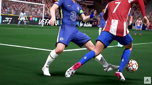 """画像集#008のサムネイル/「FIFA 22」のゲームプレイトレイラーが公開。""""HyperMotion""""を中心に,ゲームをより本物に近づけるためのテクノロジーを紹介"""