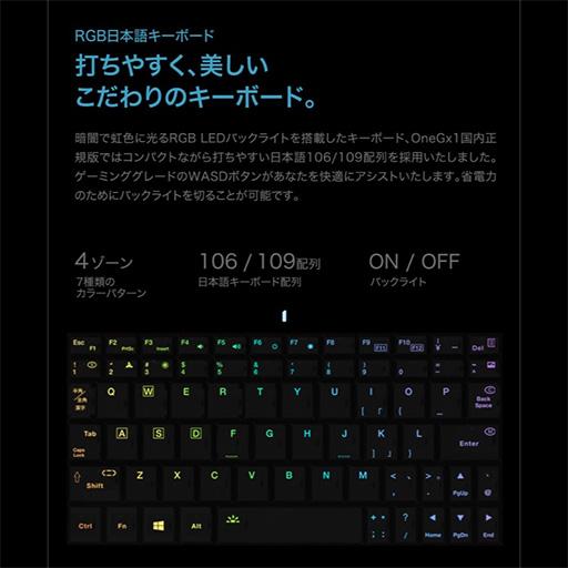画像(008)話題のゲーマー向け超小型PC「OneGx1」が国内初披露。合体可能なゲームパッドやLTE対応は競合製品にない魅力だ